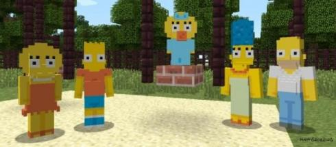 I Simpson conquisteranno Minecraft