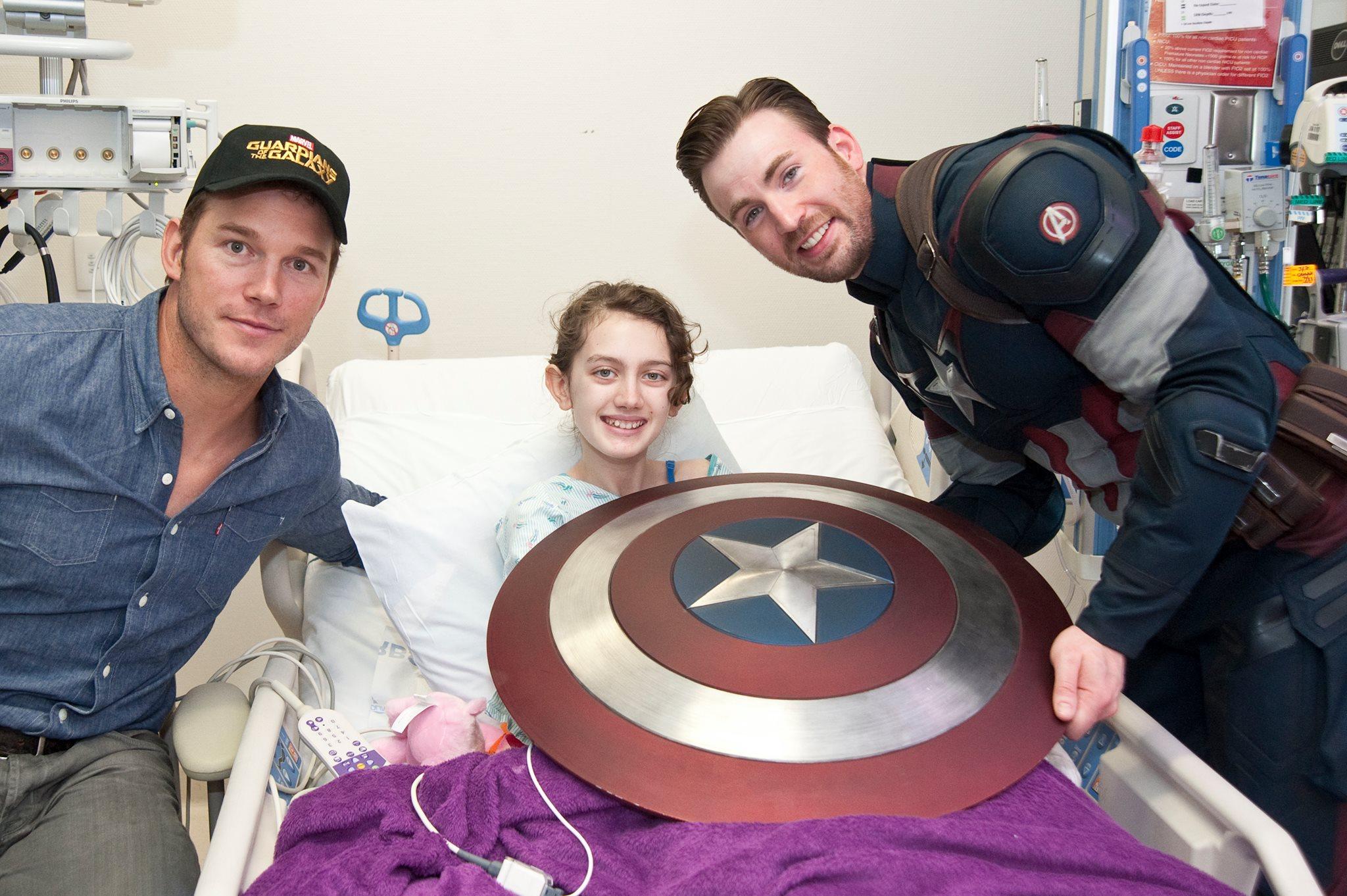 Capitan America e Star Lord realizzano il sogno dei bambini malati